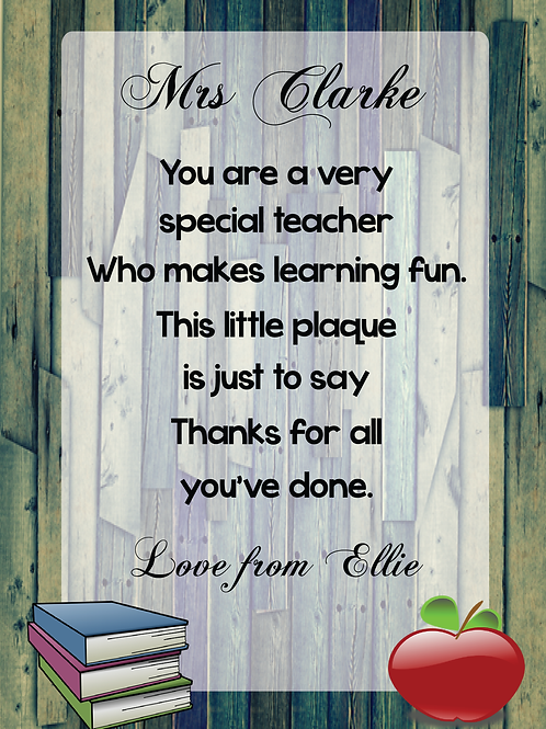 PERSONALISED TEACHER PRINT