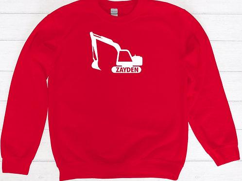 Child's Personalised Digger Sweatshirt
