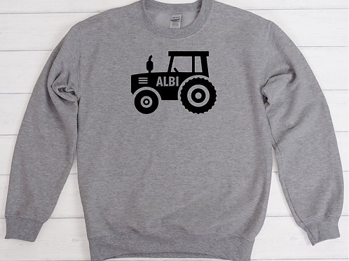 Child's Personalised Tractor Sweatshirt