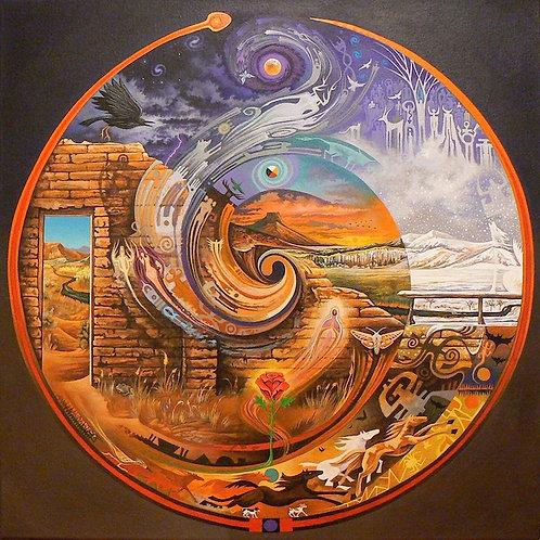 Abiquiu Spiral - canvas18x18