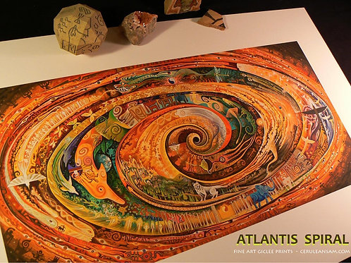 Atlantis Spiral - paper9x18
