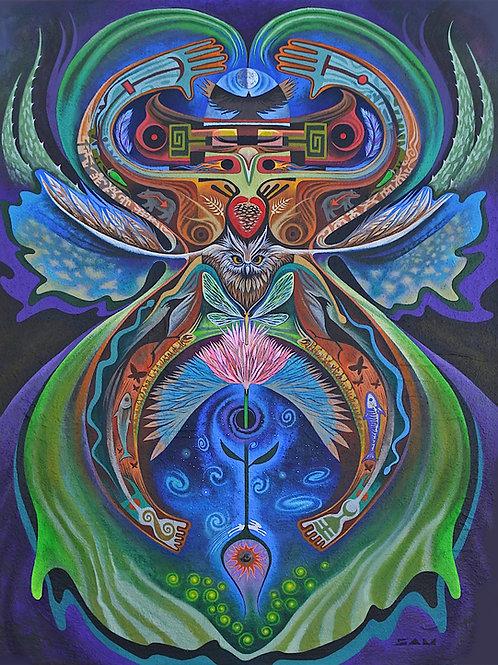 Owl Blossom  canvas18x24