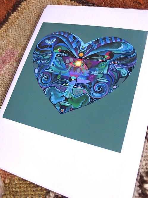 Heart Spiral    ART CARD