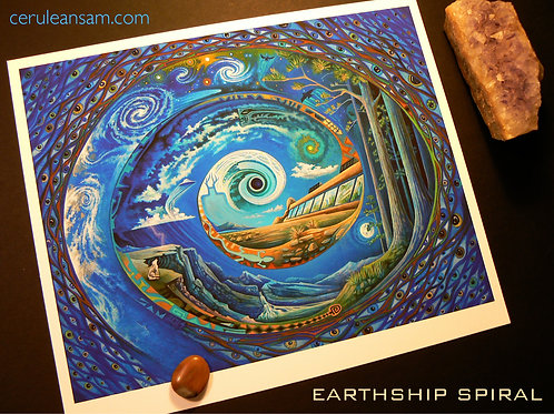 Earthship Spiral - paper9x11