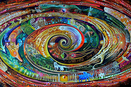 Atlantis Spiral - canvas18x36