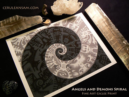 Angels~Demons Spiral - paper13x16
