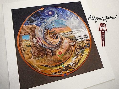 Abiquiu Spiral - paper16x16