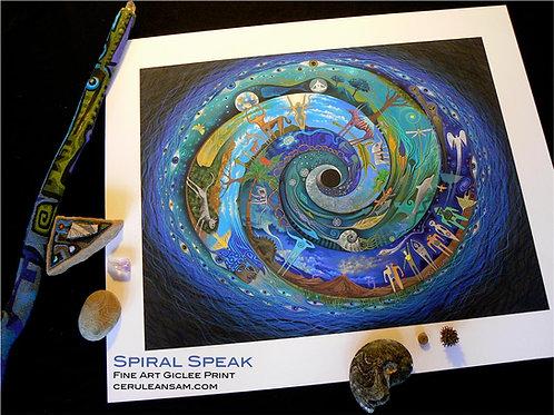 Spiral Speak - paper9x12