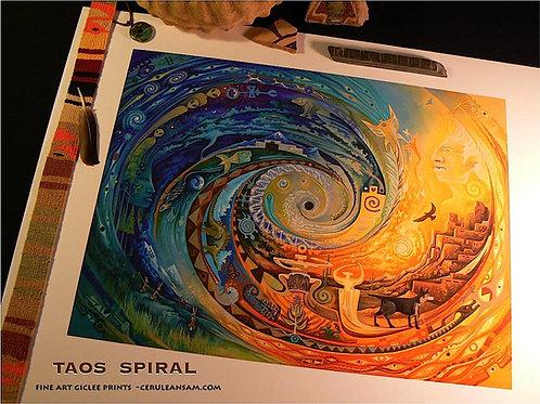 Taos Spiral - paper9x12