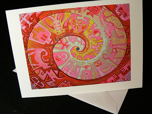 Love Spiral ART CARD