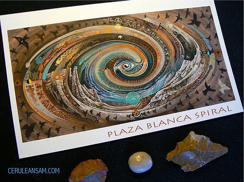 Plaza Blanca Spiral - paper9x18