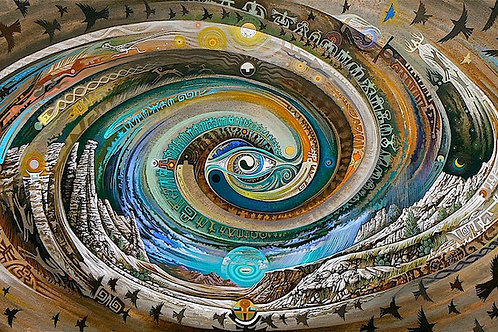 Plaza Blanca Spiral - canvas18x36