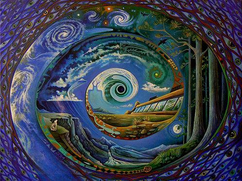 Earthship Spiral - canvas16x20