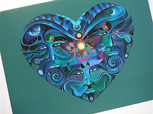 Heart Spiral    paper18x24