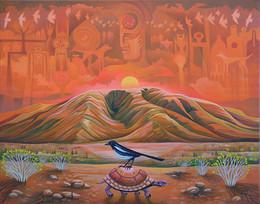 Taos Magpie Morning
