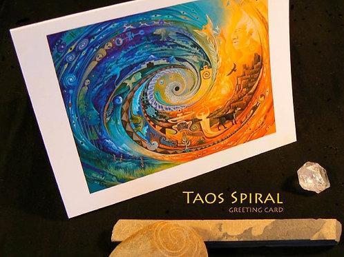 Taos Spiral ART CARD
