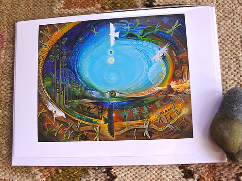 Dragonfly Spiral    ART CARD