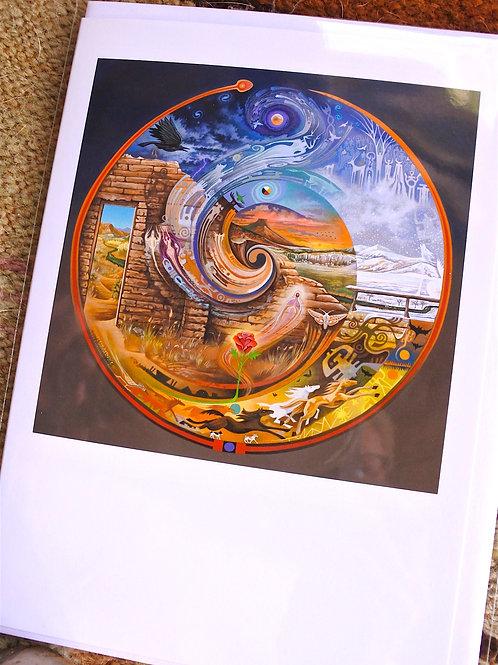 Abiquiu Spiral   ART CARD