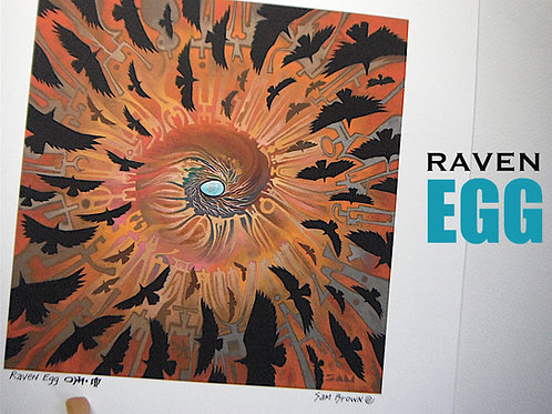 Raven Egg   paper16x16