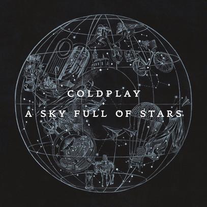 Titulní strana singlu A sky full of stars