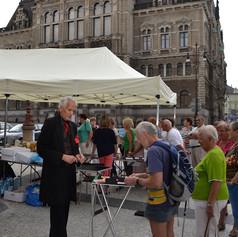 Vystoupení před Libereckou radnicí