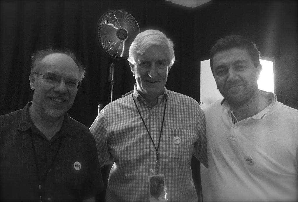 Stephen Tanner, Anthony Martin, Peter Hirjak v Buenos Aires před natáčením