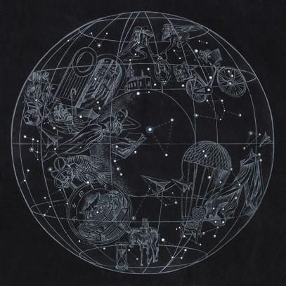 Originální grafika A sky full of stars black