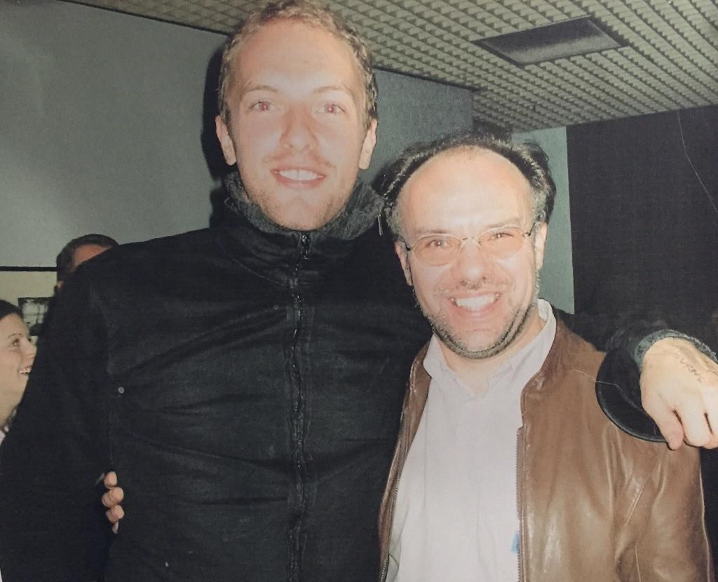 Chris Martin a Stephen Tanner - Chrisův učitel klavíru a kompozice