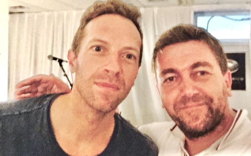 Chris a Peter při natáčení v Buenos Aires