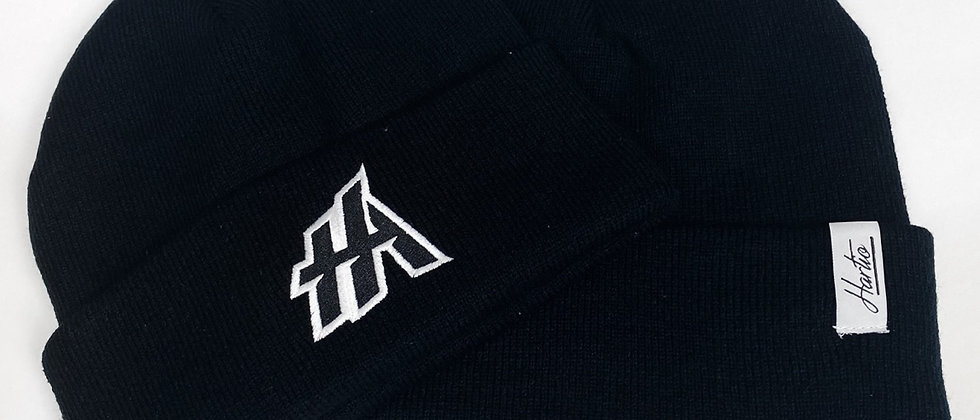 HA + Hartio Black Winter Hat