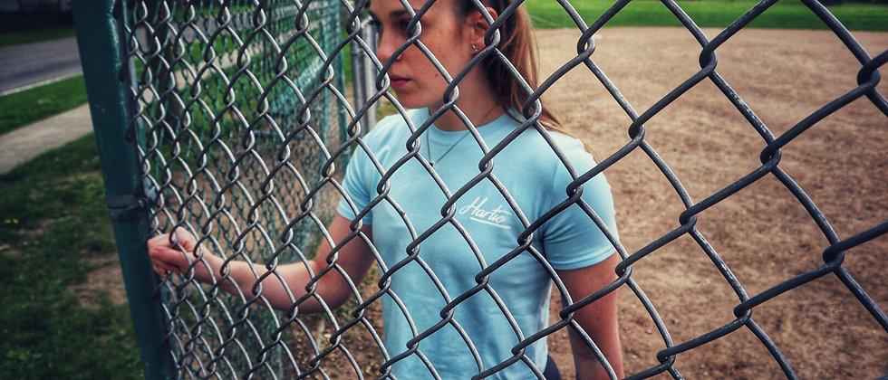 Sky Blue Crop-Top T-Shirt