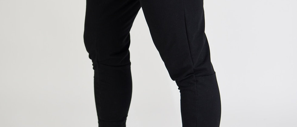 Black V2 Premium fitted Joggers