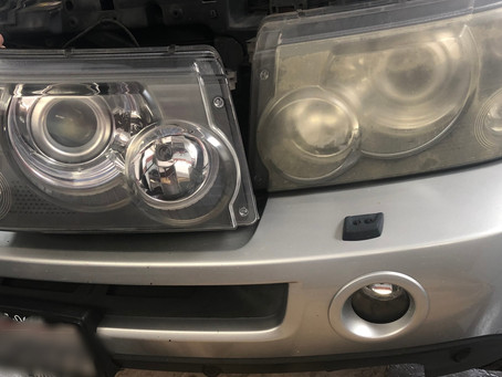 Restoring Headlight Lens
