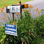 Carpet Cleaning Sign in Happy Custmer's yard