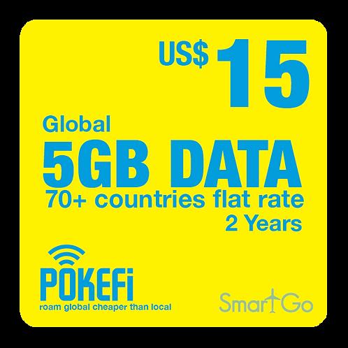 5GB Data Global 100+