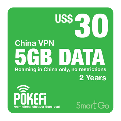 5GB Data China VPN