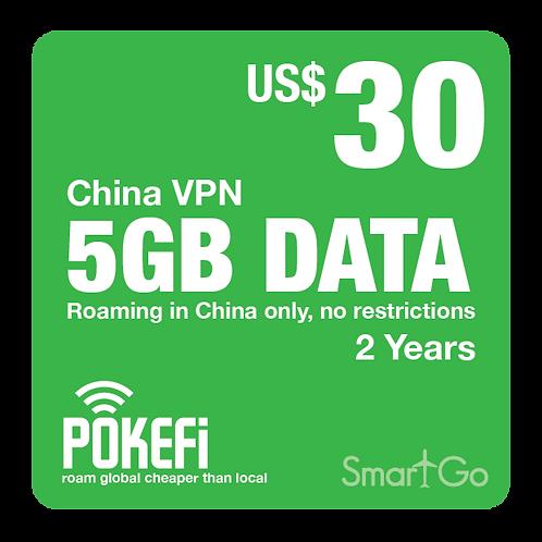 5GB Data China VPN