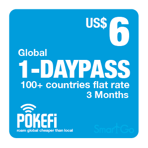 1 day pass Global 100+