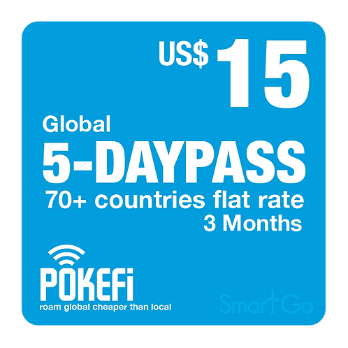 5 day passes Global 100+