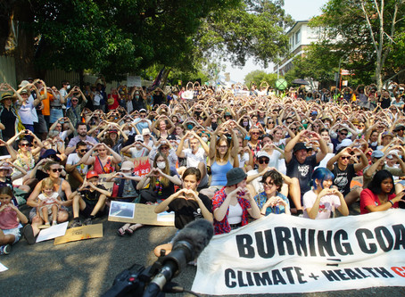 As Australia burns, 100s pitch tents outside PM's house demanding a response to the climate crisis
