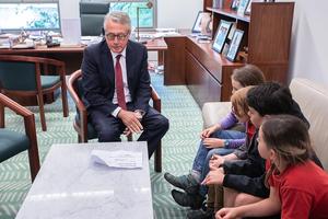Canberra strikers meet with Wayne Swan to outline the school strike demands.