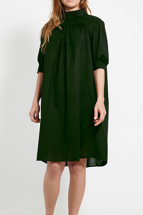 BEVERLY DRESS : ORGANIC COTTON VOILE : FOREST