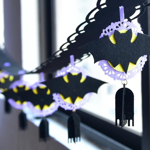 卡通蝙蝠拉𣄃裝飾