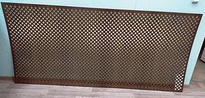 Перфорирванная панель Лотос, цвет орех