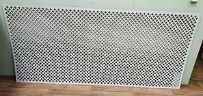Перфорирванная панель Лотос, цвет белый