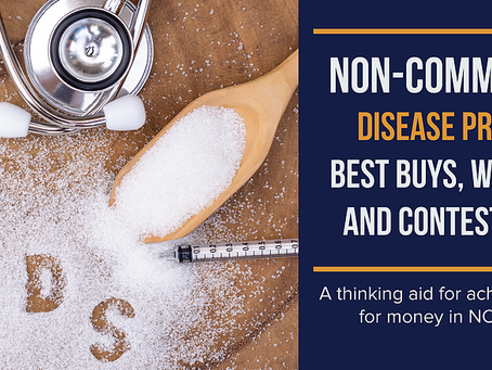 Lançamento e-book: Non-communicable Disease Prevention: Best Buys, Wasted Buys, and Contestable Buys