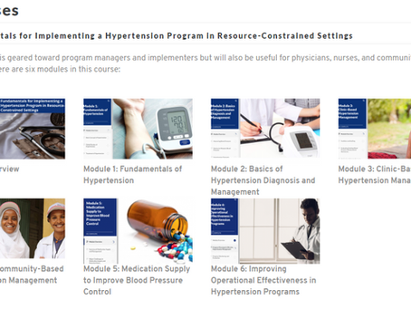 Cursos para implementação de Programas para Saúde Cardiovascular na APS pela Johns Hopkins