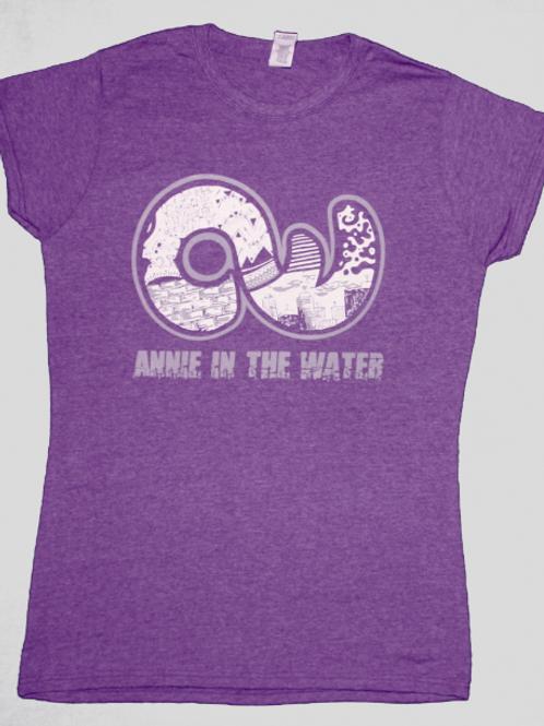 Womens Crew-neck T-shirt Purple