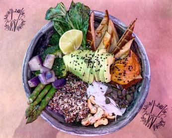 Satay high protein bowl