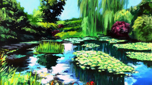 Claude Monet's garden (Giverny, France).